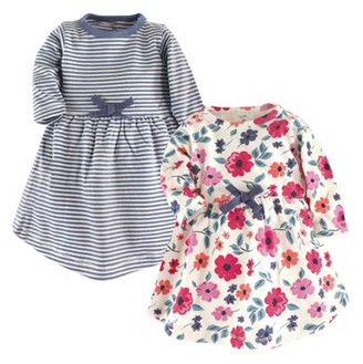 Touched By Nature Touched by Nature Baby Girl Organic Long Sleeve Dresses, 2-pack