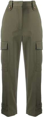 Pt01 High-Waisted Crop Trousers