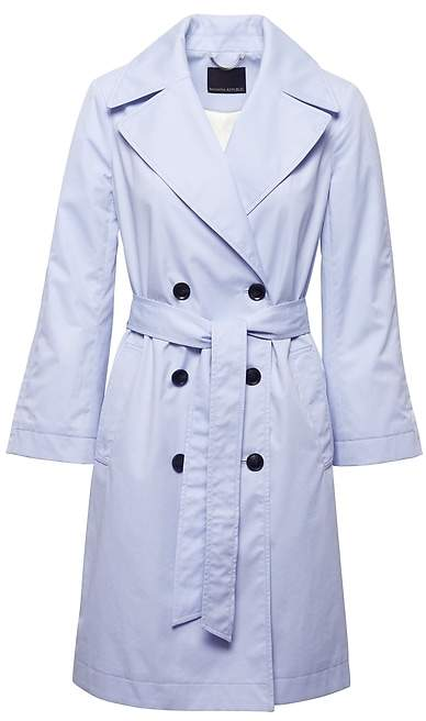 Petite Water-Resistant Modern Trench Coat