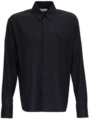 Bottega Veneta Gray Flannel Shirt