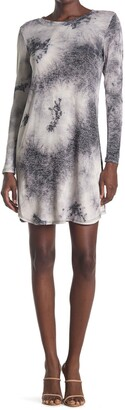 Tash + Sophie Long Sleeve Tie Dye Sweater Dress
