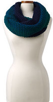 Lands' End Women's Ombre Knit Infinity Scarf-Emerald Jewel