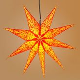 Orange and Yellow 9-Point Star Paper Lantern