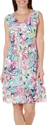 Caribbean Joe Women's Sleeveless Dress