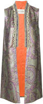 Etro metallic jacquard embellished waistcoat