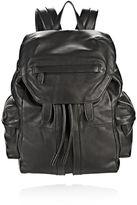 Alexander Wang Marti Backpack In Washed Black With Matte Black