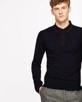 Contrast Collar Merino Polo