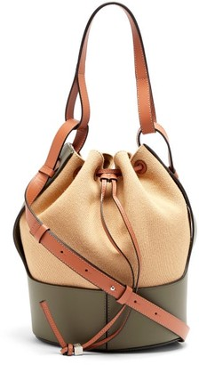 Loewe Balloon Medium Canvas And Leather Shoulder Bag - Cream Multi