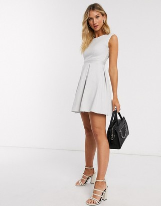Closet London Closet mini skater dress in ivory