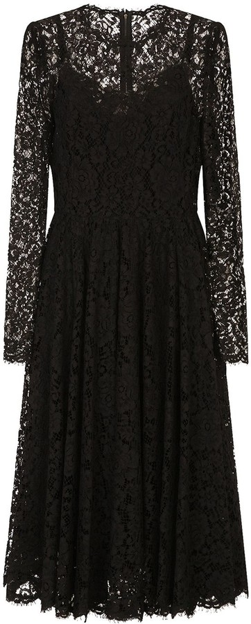 Dolce & Gabbana Lace Long-Sleeved Dress