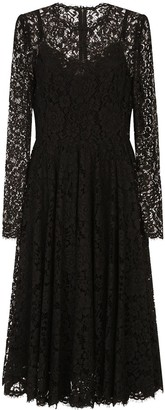 Dolce & Gabbana Lace Long-Sleeved Dress