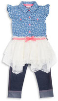 Little Lass Baby Girls Two-Piece Tunic and Capri Pants Set