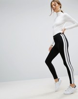 Asos Skinny Pants with Checkerboard Side Stripe
