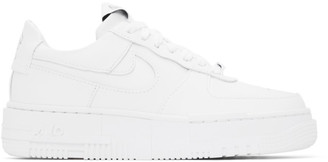 Nike White Air Force 1 Pixel Sneakers