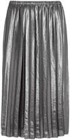 Etoile Isabel Marant Madlen Silver Pleated Lamé Skirt