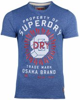 Superdry Men's Property Of SD Worn Wash T-Shirt-Royal Grit-Small