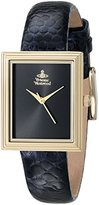 Vivienne Westwood Women's VV115BKPP Berkeley Square Watch With Black Leather Band