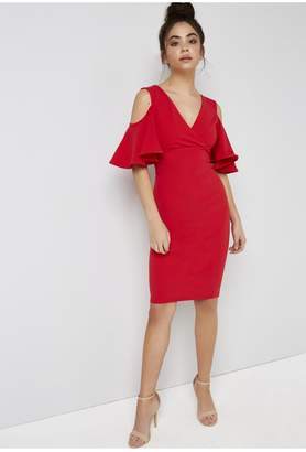Girls On Film Outlet Red Bodycon Dress