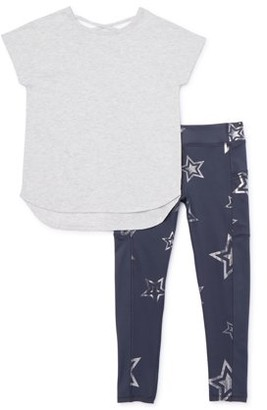 Athletic Works Girls 4-18 & Plus Active T-shirt & Printed Leggings