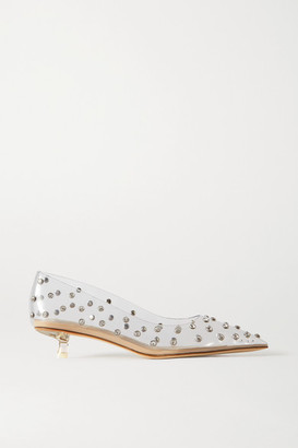 Cult Gaia Roxy Crystal-embellished Pvc Pumps - Clear