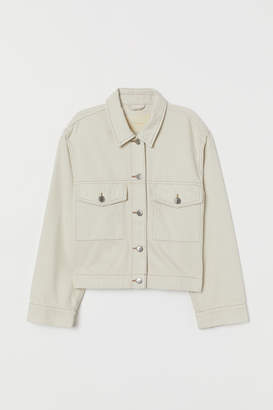 H&M Boxy Denim Jacket - White