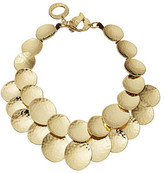 Robert Lee Morris Hammered Gold Disc Frontal Necklace