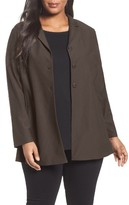 Eileen Fisher Plus Size Women's Washable Stretch Crepe Shaped Jacket