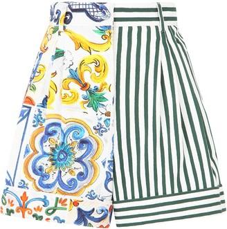 Dolce & Gabbana Patchwork-Print Shorts