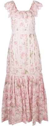 LoveShackFancy Niko floral maxi dress