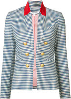 Veronica Beard cottage gingham jacket - women - Cotton/Spandex/Elastane - 4