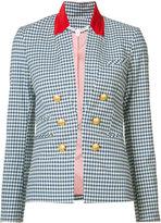 Veronica Beard cottage gingham jacket - women - Cotton/Spandex/Elastane - 4