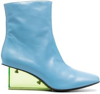 Nicole Saldaña Ana leather ankle boots