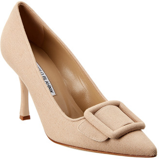 Manolo Blahnik Maysale 90 Canvas Pump