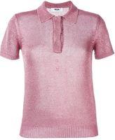 MSGM fine knit polo shirt