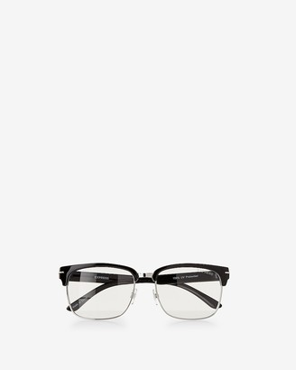 Express Clear Lens Browline Sunglasses