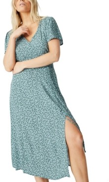 Cotton On Woven Imogen Ruched Side Midi Dress