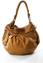 Marc by Marc Jacobs Brown Textured Leather Large Unstructured Hobo Handbag