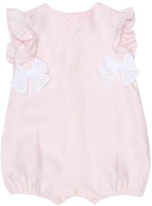 Il Gufo Baby linen playsuit