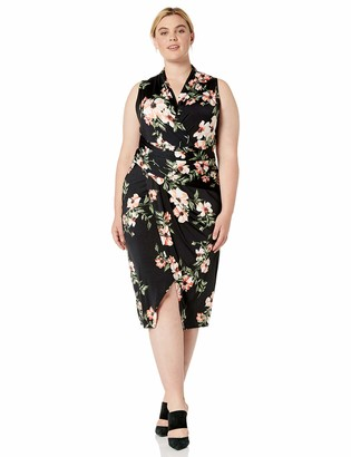 Rachel Roy Women's Plus Size Sleeveless Printed Bret Dress