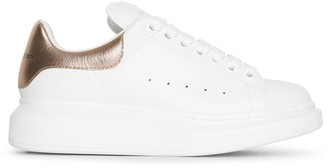 Alexander McQueen White and rose gold classic sneakers