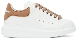 Alexander McQueen White and Beige TPU Oversized Sneakers