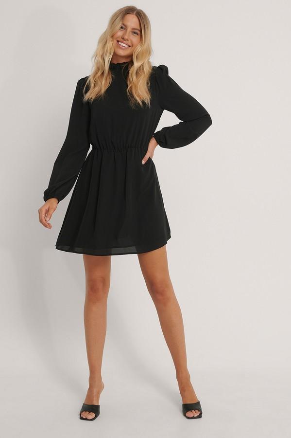 NA-KD High Neck Elastic Waist Mini Dress