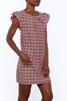 Aryeh Pink Pattern Mini Dress