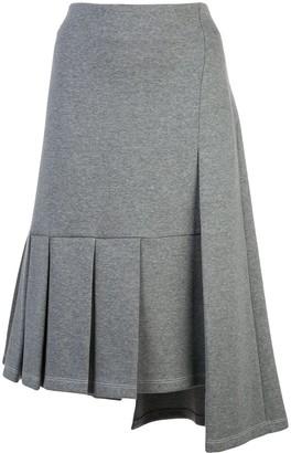 Marni Asymmetric Pleated Skirt