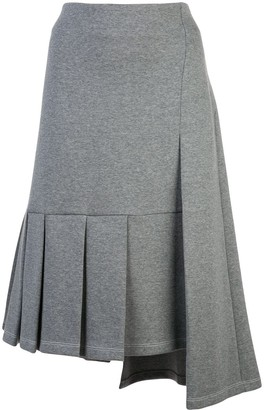 Marni asymmetric pleated skirt