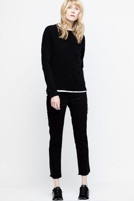 Zadig & Voltaire Cici Patch Cachemire Sweater