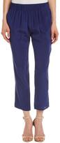 Nieves Lavi Silk Elastic Waist Pants