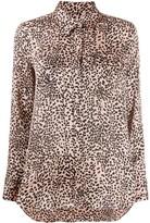 Equipment long-sleeved animal-print dress