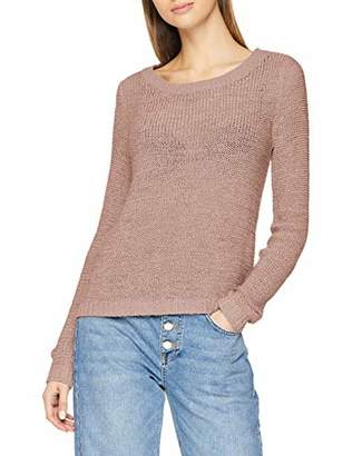 Only Women's onlGEENA XO L/S PULLOVER KNT NOOS Plain Jumper,S