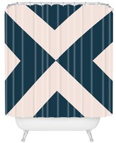 """DENY Designs Khristian A Howell Ninette in Navy Shower Curtain by 71""""x74"""")"""